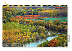 Autumn Colors On The Ebro River Carry-all Pouch