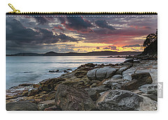 Colours Of A Stormy Sunrise Seascape Carry-all Pouch