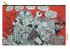 Carry-all Pouch featuring the painting Feb 1938 Dublin Opinion by Val Byrne