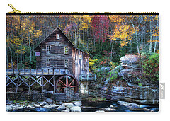 Carry-all Pouch featuring the photograph Glade Creek Grist Mill  by Pete Federico