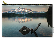 Mount Rundle And Two Jack Lake Carry-all Pouch