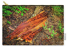 Carry-all Pouch featuring the photograph Wet Wood by Jon Burch Photography