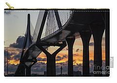 Carry-all Pouch featuring the photograph 1812 Constitution Bridge Cadiz Spain by Pablo Avanzini
