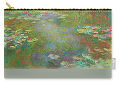 Carry-all Pouch featuring the digital art Water Lily Pond by Claude Monet