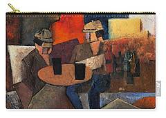 Carry-all Pouch featuring the painting 7073 Two Black Solutions by Val Byrne