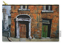 Carry-all Pouch featuring the painting 775 Decaying Elegance In The Liberties, Dublin by Val Byrne