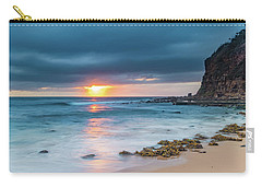 Sunrise Seascape And Cloudy Sky Carry-all Pouch