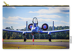 Carry-all Pouch featuring the photograph A-10c Thunderbolt II by Doug Camara