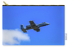 Carry-all Pouch featuring the photograph A-10c Thunderbolt II In Flight by Doug Camara