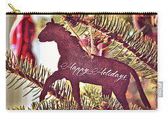 Carry-all Pouch featuring the photograph A Christmas Trot Quote by Jamart Photography