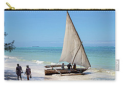 Carry-all Pouch featuring the photograph A Dhow In Zanzibar by Kay Brewer