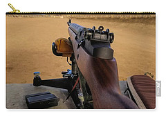 Carry-all Pouch featuring the photograph A Fine Day At The Range by Jon Burch Photography