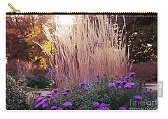 A Flower Bed In The Autumn Park Carry-all Pouch