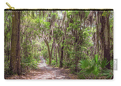 Carry-all Pouch featuring the photograph A Forest Trail by John M Bailey