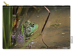 A Frog Waits Carry-all Pouch