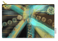 A Light Beams In Gold Brown And Blue Carry-all Pouch