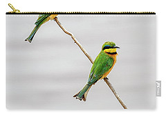 Carry-all Pouch featuring the photograph A Little Bee Eater Couple by Kay Brewer