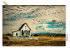 A Lone Prairie Church Carry-all Pouch