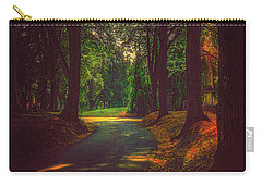 Carry-all Pouch featuring the photograph A Moody Pathway by Chris Lord