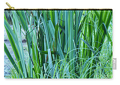 Carry-all Pouch featuring the photograph A Shock Of Green by Rosanne Licciardi