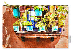 Carry-all Pouch featuring the photograph A Small Suspended Garden In Mexico - Digital Paint by Tatiana Travelways