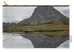 Carry-all Pouch featuring the photograph A Still Evening At Lac Du Miey by Stephen Taylor