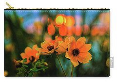 Sunflower Bokeh Sunset Carry-all Pouch