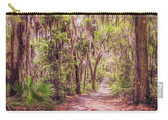 Carry-all Pouch featuring the photograph A Trail Into Time by John M Bailey