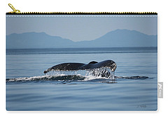 Carry-all Pouch featuring the photograph A Whale Of A Tail - Wildlife Art by Jordan Blackstone