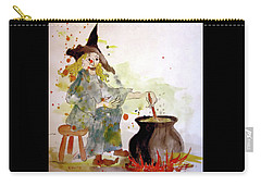 Carry-all Pouch featuring the painting A Witch Called Zee by Valerie Anne Kelly
