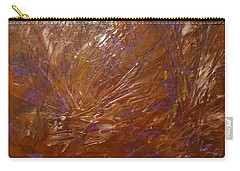 Abstract Brown Feathers Carry-all Pouch