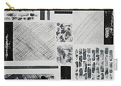 Carry-all Pouch featuring the painting Abstract Collage by Karen Fleschler