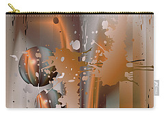 Abstract Copper Carry-all Pouch