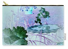 Carry-all Pouch featuring the digital art Abstract Garden Birdbath by Robert G Kernodle
