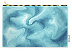 Abstract Navy Blue Liquid Carry-all Pouch