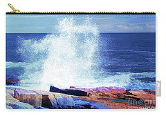 Crashing Waves At Schoodic Point Abstract Carry-all Pouch