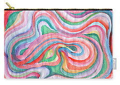 Abstraction In Spring Colors Carry-all Pouch
