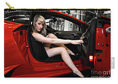 Carry-all Pouch featuring the photograph Action Red by Brad Allen Fine Art