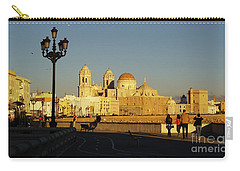 Carry-all Pouch featuring the photograph adiz Cathedral from Southern Field Spain by Pablo Avanzini