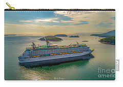 Carry-all Pouch featuring the photograph Adventure Of The Seas, Bar Harbor  by Michael Hughes