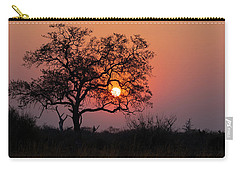 Carry-all Pouch featuring the photograph Africa Sunset by John Rodrigues