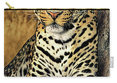 Carry-all Pouch featuring the photograph African Leopard Portrait Wildlife Rescue by Dave Welling