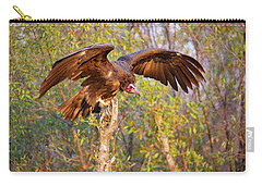 Carry-all Pouch featuring the photograph African Vulture by John Rodrigues