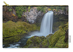 Carry-all Pouch featuring the photograph All Of Sahalie Falls by Matthew Irvin