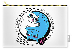 All You Need Is Love And Cats - Baby Room Nursery Art Poster Print Carry-all Pouch