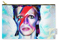 Carry-all Pouch featuring the digital art Aladdin Sane by Pennie McCracken