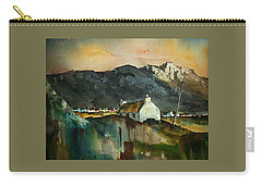 Carry-all Pouch featuring the painting Allihies Sunset, Beara Peninsula, Co. Cork by Val Byrne