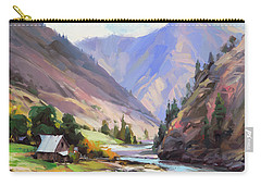 Carry-all Pouch featuring the painting Along The Salmon River by Steve Henderson