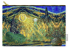 Carry-all Pouch featuring the digital art Alorial - Shifting Dominion by Mike Braun