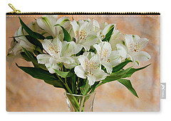 Alstroemeria Bouquet On Canvas Carry-all Pouch
